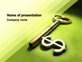 Financial/Accounting: Financial Key PowerPoint Template #04896
