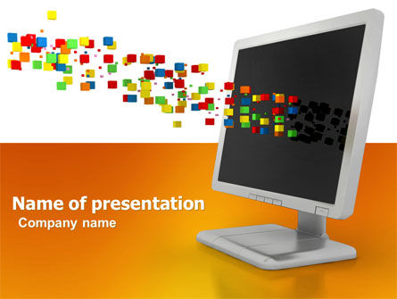 Computers: Pixels PowerPoint Template #04898