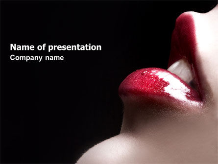 Careers/Industry: Lips PowerPoint Template #04899