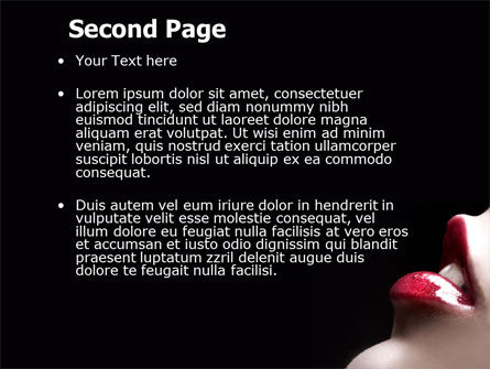Lips PowerPoint Template Slide 2