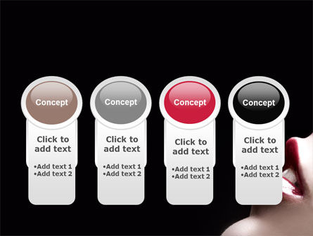 Lips PowerPoint Template Slide 5