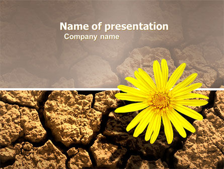 Nature & Environment: Desert Flower Free PowerPoint Template #04901