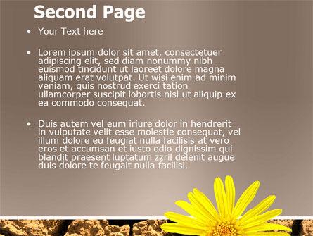 Desert Flower Free PowerPoint Template, Slide 2, 04901, Nature & Environment — PoweredTemplate.com