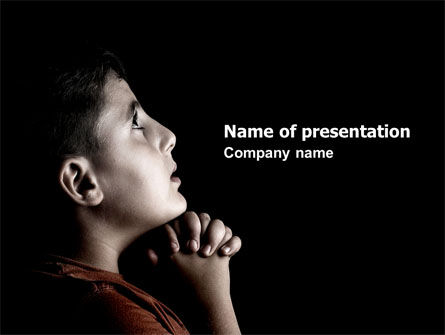 Religious/Spiritual: Prayer PowerPoint Template #04902