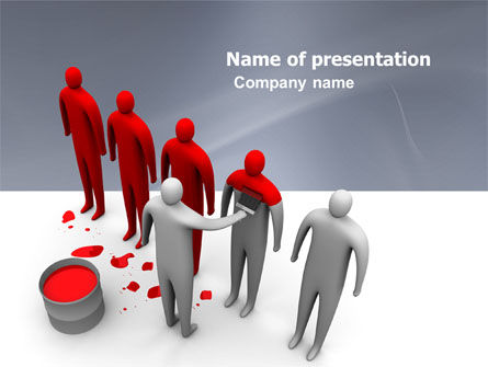 Likeness PowerPoint Template, 04904, Education & Training — PoweredTemplate.com