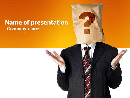 Paper Bag PowerPoint Template, 04905, Consulting — PoweredTemplate.com