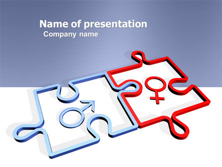 Medical: Gender Relations PowerPoint Template #04907