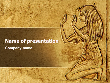 Egyptian Engraving Brochure Template Design and Layout Download – History Powerpoint Template