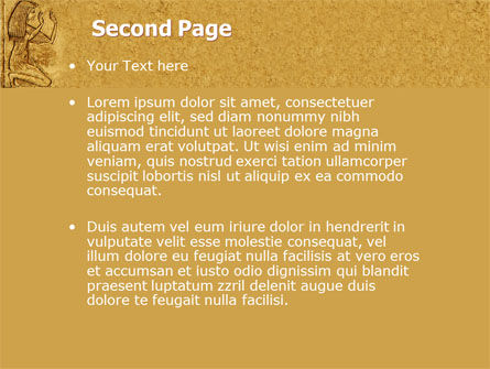 Egyptian Engraving PowerPoint Template Slide 2