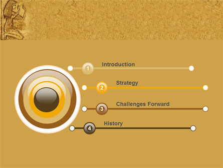 Egyptian Engraving PowerPoint Template Slide 3