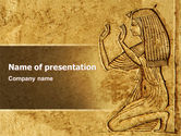 Education & Training: Egyptian Engraving PowerPoint Template #04908