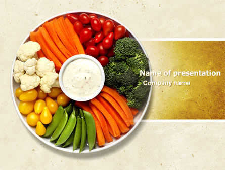 Vitamin Food PowerPoint Template, 04909, Food & Beverage — PoweredTemplate.com