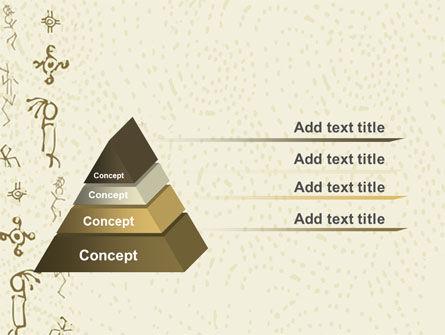 Ancient Petroglyphs PowerPoint Template, Slide 4, 04912, Technology and Science — PoweredTemplate.com