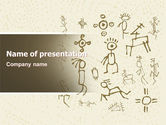 Technology and Science: Ancient Petroglyphs PowerPoint Template #04912