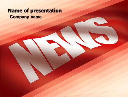 Careers/Industry: News PowerPoint Template #04913