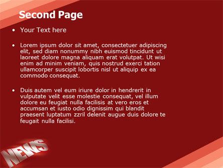 News PowerPoint Template, Slide 2, 04913, Careers/Industry — PoweredTemplate.com