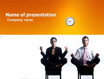 Working Hours PowerPoint Template, 04915, Business — PoweredTemplate.com