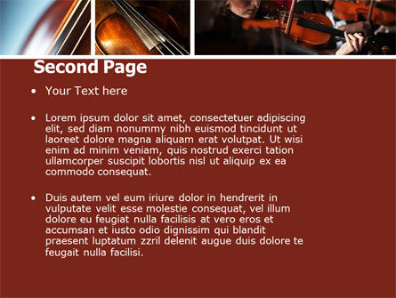 Violin Collage PowerPoint Template Slide 2