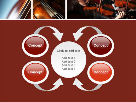 Violin Collage PowerPoint Template Slide 6