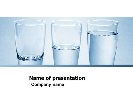 Glass Half Full PowerPoint Template