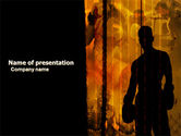 Sports: Boxer PowerPoint Template #04920