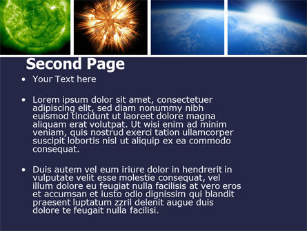 Planet Glow PowerPoint Template, Slide 2, 04921, Technology and Science — PoweredTemplate.com
