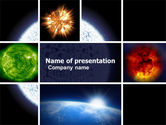 Technology and Science: Modello PowerPoint - Planet bagliore #04921