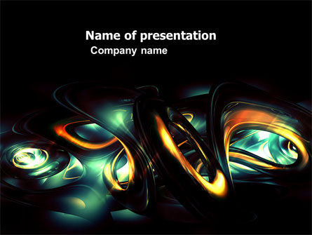 Abstract/Textures: Fantastic Dark PowerPoint Template #04926