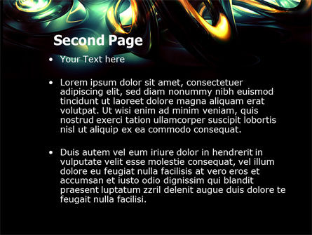 Fantastic Dark PowerPoint Template, Slide 2, 04926, Abstract/Textures — PoweredTemplate.com
