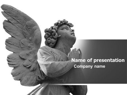 Religious/Spiritual: Angel PowerPoint Template #04927
