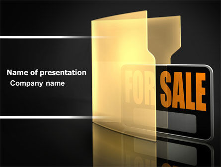 Careers/Industry: For Sale PowerPoint Template #04930