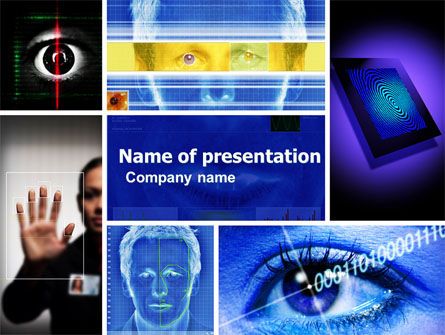 Technology and Science: Biometrie PowerPoint Vorlage #04932