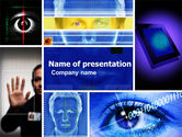 Technology and Science: Biometrics PowerPoint Template #04932