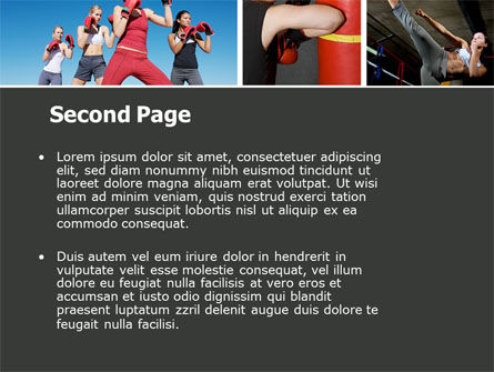 Kickboxing PowerPoint Template Slide 2