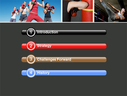 Kickboxing PowerPoint Template Slide 3