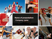 Sports: Kickboxing PowerPoint Template #04933
