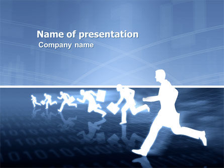 Business Rush Run PowerPoint Template