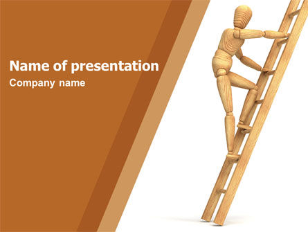 Careers/Industry: Climbing Up On the Ladder PowerPoint Template #04935