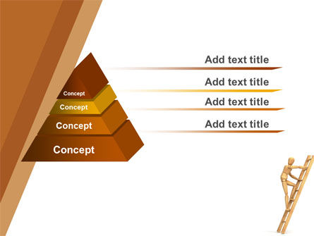 Climbing Up On the Ladder PowerPoint Template Slide 10