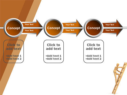 Climbing Up On the Ladder PowerPoint Template Slide 11