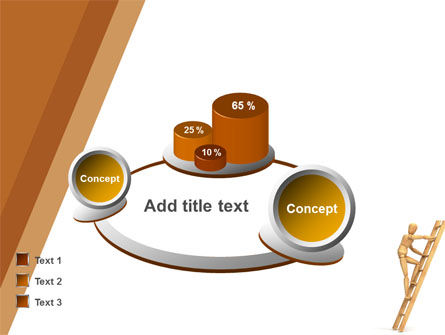 Climbing Up On the Ladder PowerPoint Template Slide 13