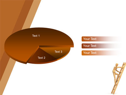 Climbing Up On the Ladder PowerPoint Template Slide 14