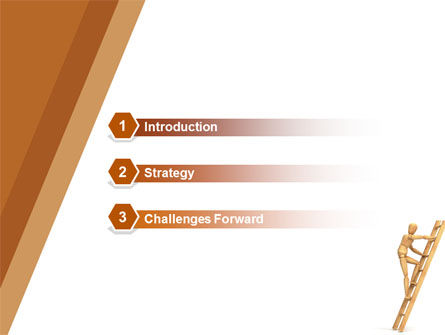 Climbing Up On the Ladder PowerPoint Template Slide 3