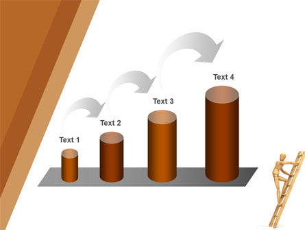 Climbing Up On the Ladder PowerPoint Template Slide 7