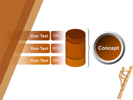 Climbing Up On the Ladder PowerPoint Template Slide 8