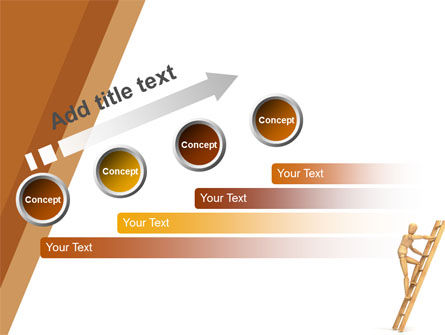 Climbing Up On the Ladder PowerPoint Template Slide 9