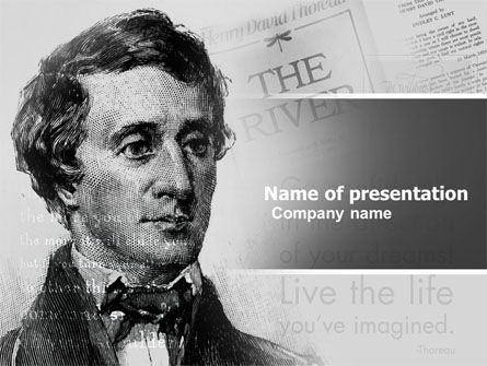 Henry David Thoreau PowerPoint Template, 04936, People — PoweredTemplate.com