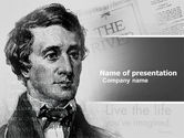 People: Henry david thoreau PowerPoint Vorlage #04936
