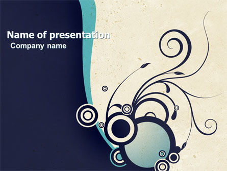 Decorative Design PowerPoint Template, 04938, Abstract/Textures — PoweredTemplate.com