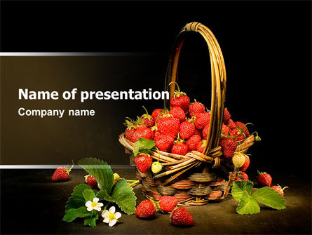 Strawberries PowerPoint Template